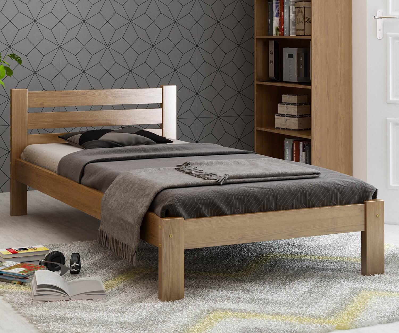 Ajza fenyő ágy 90x200 tölgy