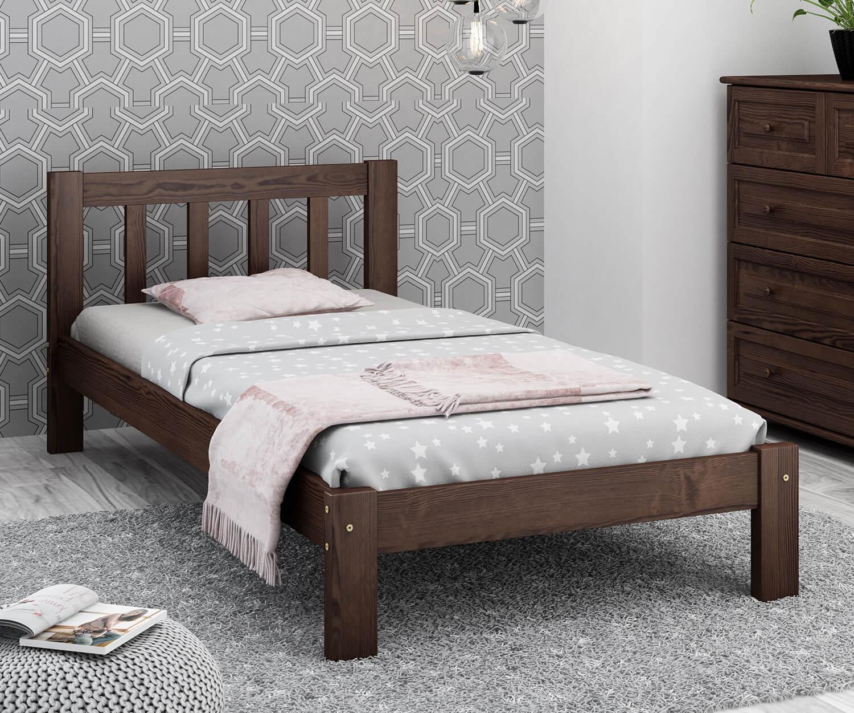 Alena fenyő ágy 90x200 dió