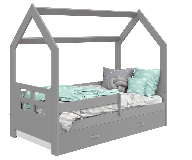 HÁZIKÓ D3D gyermek ágy 160x80cm tömör szürke