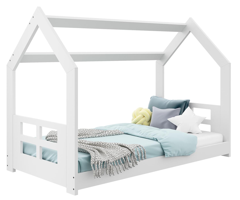 HÁZIKÓ D2D gyerek ágy 160x80cm tömör fehér