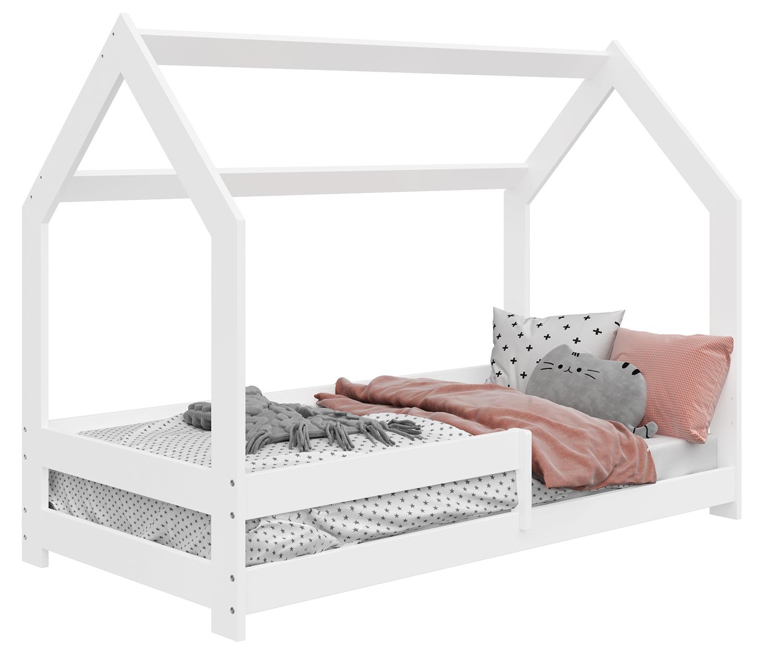 HÁZIKÓ D5 gyerek ágy 160x80cm tömör fehér
