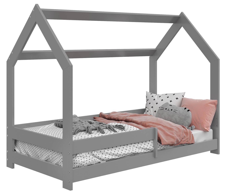 HÁZIKÓ D5 gyermek ágy 160x80cm tömör szürke