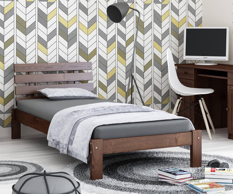 Karla fenyő ágy 90x200 dió