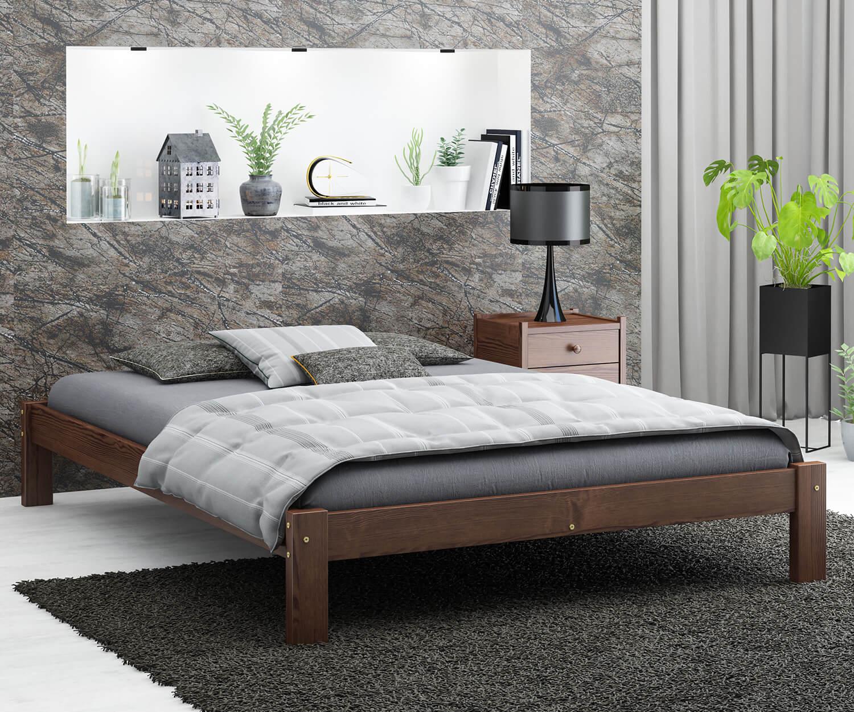 Luisa fenyő ágy 120x200 dió