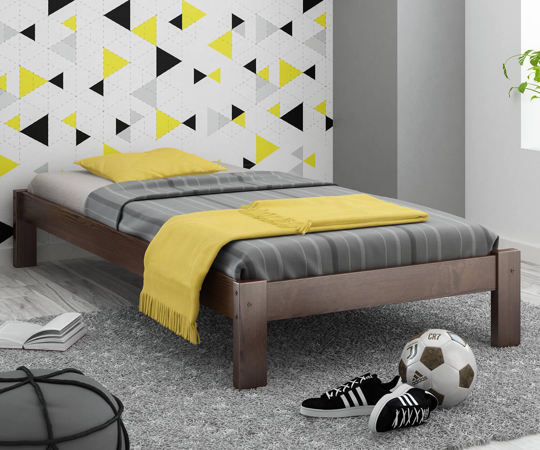 Luisa fenyő ágy 90x200 dió