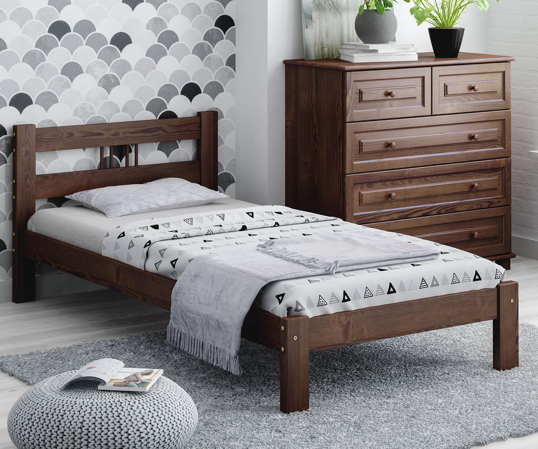 Virginia fenyő ágy 90x200 dió