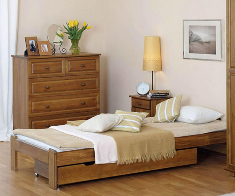 Adéla ágy tölgy 90x200cm