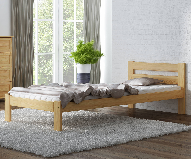 Akio VitBed fenyő ágy 90x200cm lakkozás nélkül