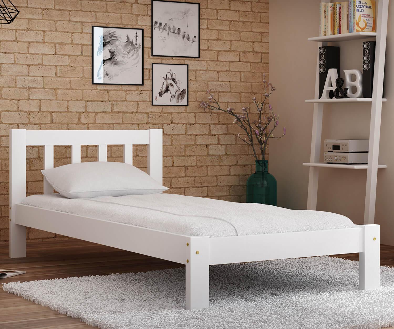 Alena ágy tömör fehér 90x200