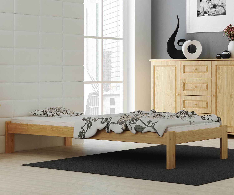 Anzu VitBed fenyő ágy 90x200cm lakkozás nélkül