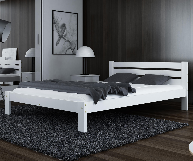 Ajza ágy tömör fehér 120x200
