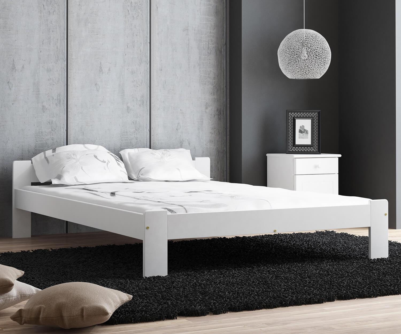MAXI-DREW Anetka ágy 120x200 - tömör fenyő feher