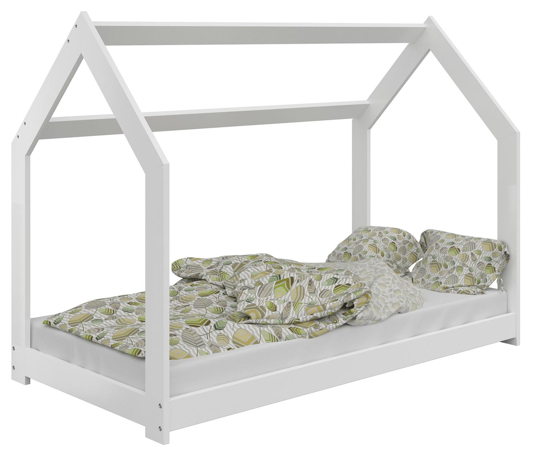 HÁZIKÓ D2  gyerek ágy 80x160cm tömör fehér