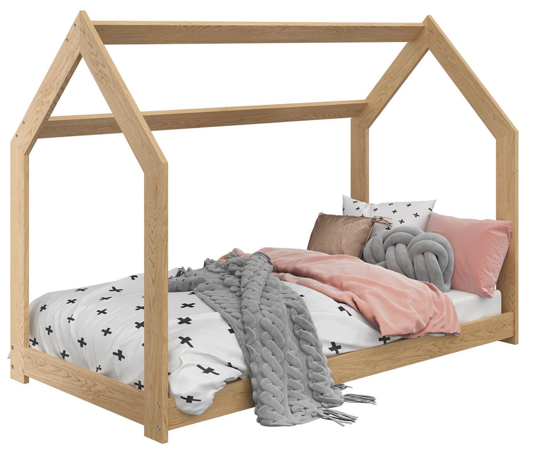 HÁZIKÓ D2 gyerek ágy 80x160cm tömör fenyő