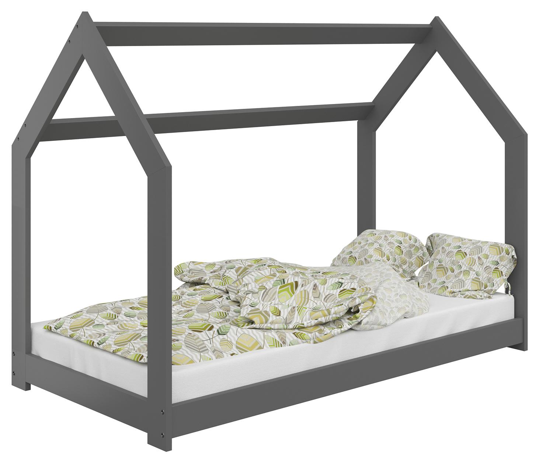 HÁZIKÓ D2 gyermek ágy 80x160cm tömör szürke