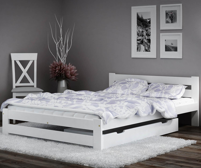 Eureka VitBed ágy 120x200cm tömör fenyő fehér