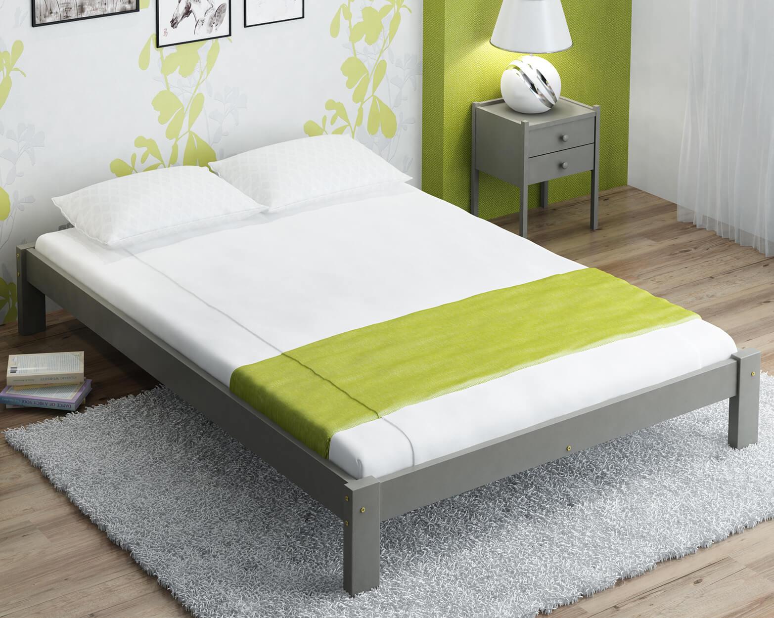 Luisa tömör szürke ágy  120x200