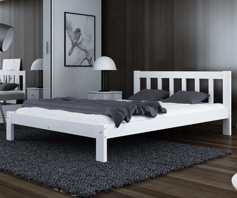Alena ágy tömör fehér 120x200