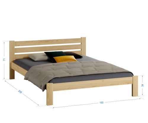 Ajza fenyő ágy 140x200