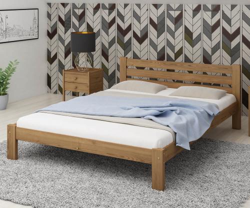 Ajza fenyő ágy 120x200 tölgy