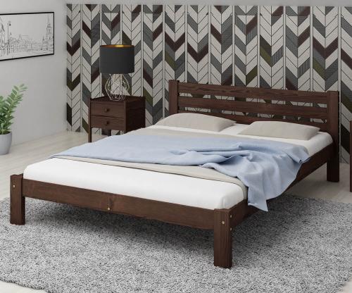Ajza fenyő ágy 120x200 dió