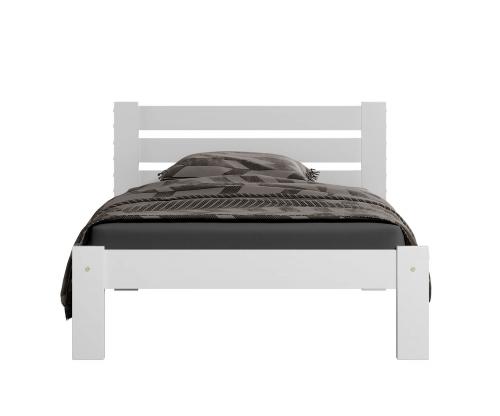 Ajza ágy tömör fehér 90x200
