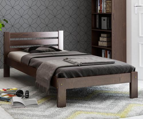 Ajza fenyő ágy 90x200 dió