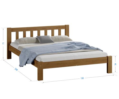Alena fenyő ágy 120x200 tölgy