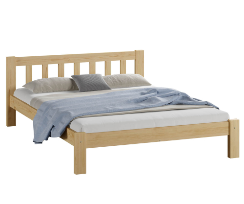 Alena tömör fenyő ágy 120x200