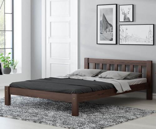 Alena fenyő ágy 120x200 dió