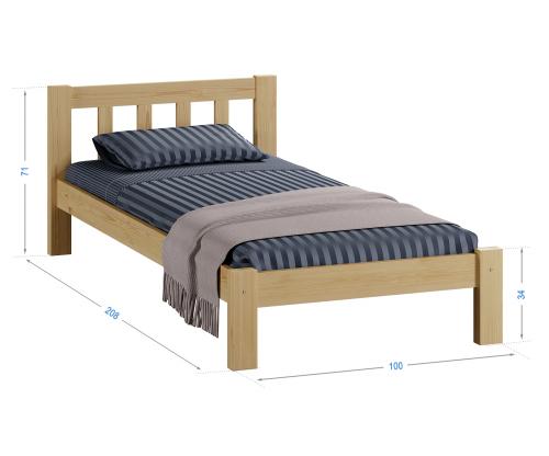 Alena tömör fenyő ágy 90x200