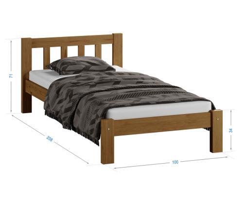 Alena fenyő ágy 90x200 tölgy