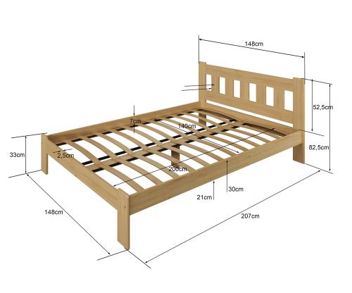 Beta ágy fenyő 140x200