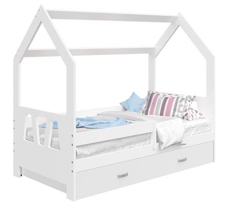 HÁZIKÓ D3A gyerek ágy 160x80cm tömör fehér