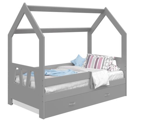 HÁZIKÓ D3A gyermek ágy 160x80cm tömör szürke