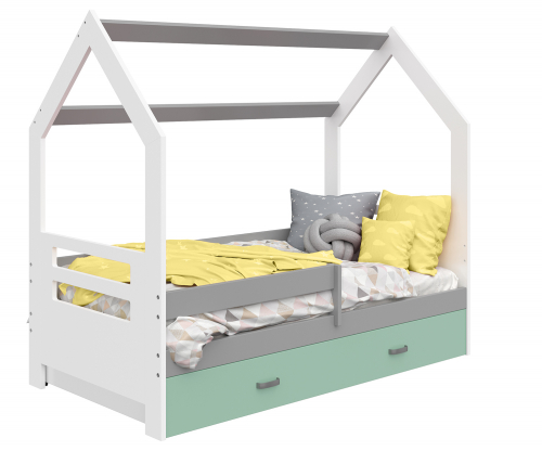HÁZIKÓ D3B gyerek ágy 160x80cm tömör fehér