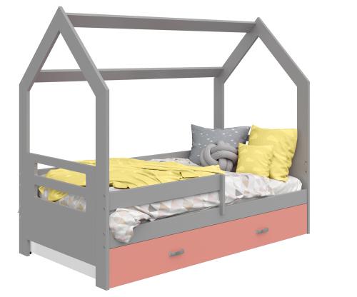 HÁZIKÓ D3B gyermek ágy 160x80cm tömör szürke