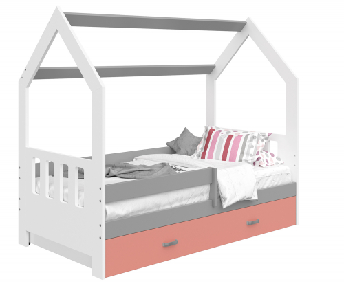 HÁZIKÓ D3C gyerek ágy 160x80cm tömör fehér