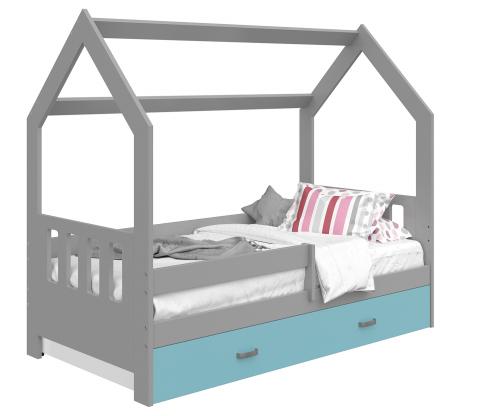 HÁZIKÓ D3C gyermek ágy 160x80cm tömör szürke