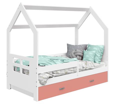 HÁZIKÓ D3D gyerek ágy 160x80cm tömör fehér