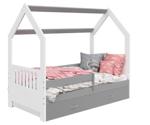 HÁZIKÓ D3E gyerek ágy 160x80cm tömör fehér