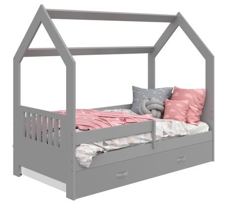 HÁZIKÓ D3E gyermek ágy 160x80cm tömör szürke