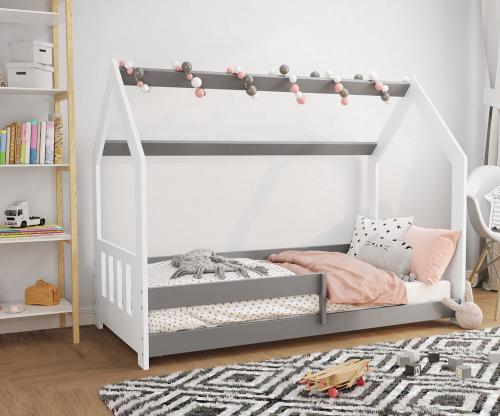 HÁZIKÓ D5C gyerek ágy 160x80cm tömör fehér
