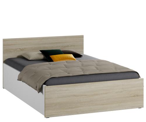 DM1 ágy 140x200cm sonoma tölgy + fehér
