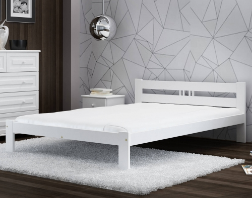ESM1 fenyő ágy 120x200cm fehér