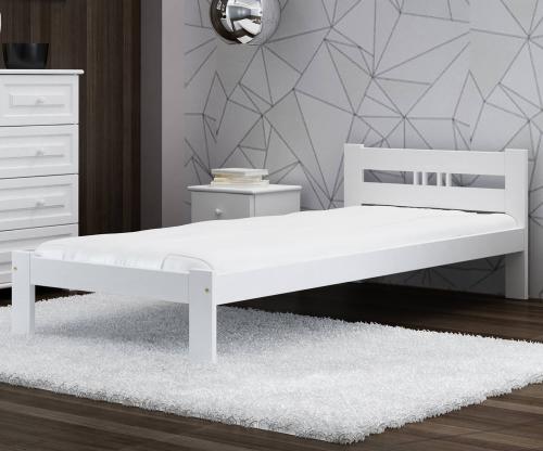ESM1 fenyő ágy 90x200cm fehér