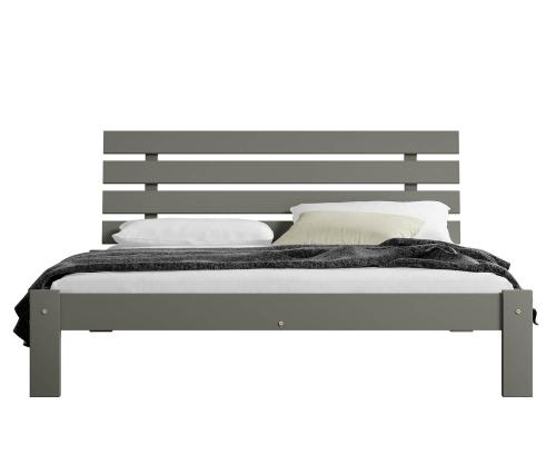 Karla tömör szürke ágy  120x200