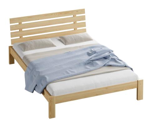 Karla tömör fenyő ágy  120x200