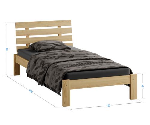 Karla tömör fenyő ágy 90x200