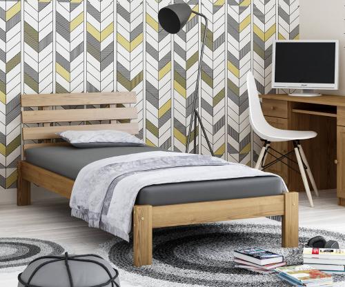 Karla fenyő ágy 90x200 tölgy